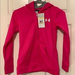 NWT Under Armour Girls Pink Hoodie